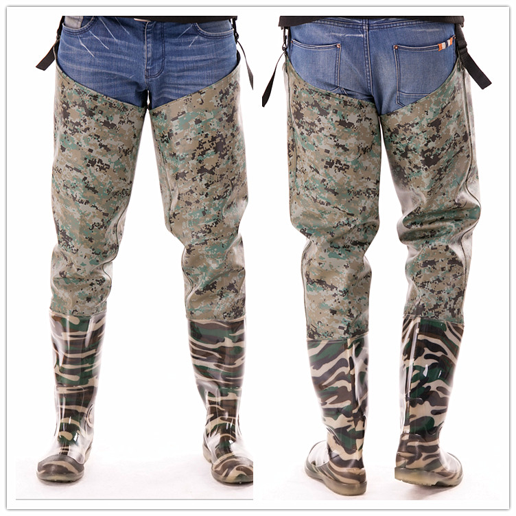 Outdoor camouflage pants catch fish boots neoprene for Womens fishing boots