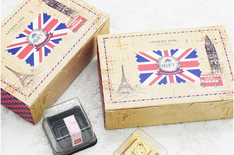 British Style Kraft Paper Bo Wedding Candy Packaging Biscuit Cookie Chocolate Macaron Gift In Event Party From Home Garden On