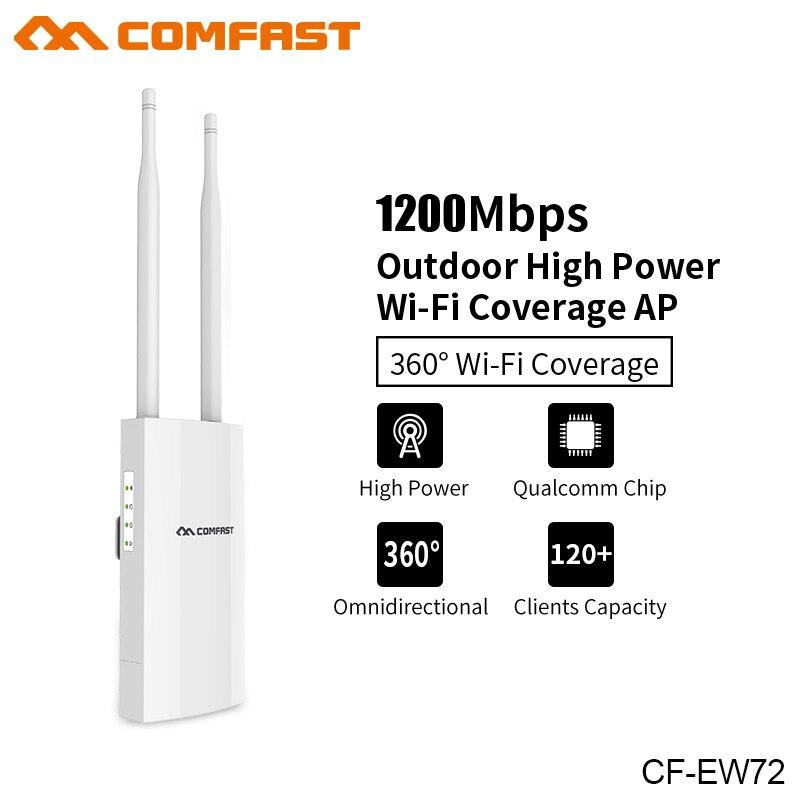 1200 Mbps Comfast CF-EW72 Double Bande 5 Ghz Haute Puissance Extérieure AP 360 degrés Couverture omnidirectionnelle Point D'accès Wifi Base station