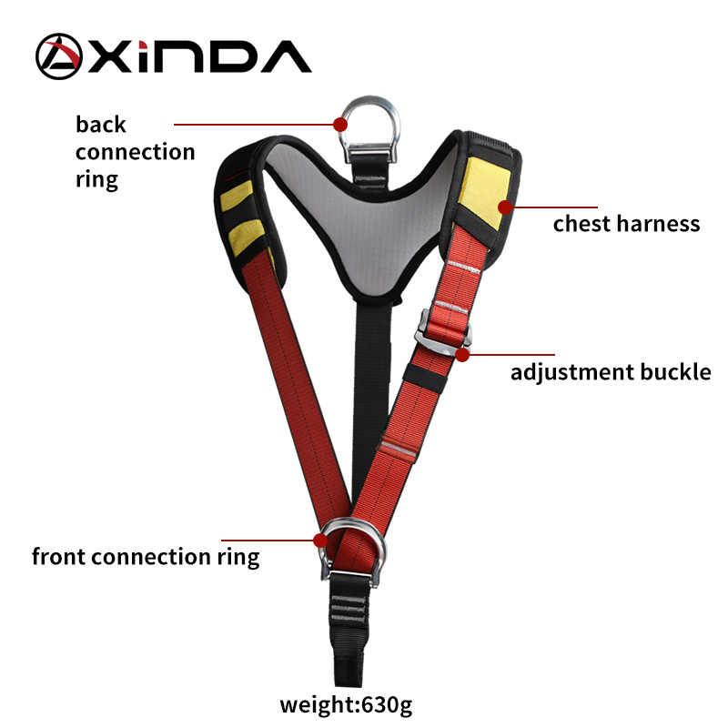 Xinda 上半身ロッククライミングハーネス胸安全のための登山懸垂下降屋外の木作業クライミング