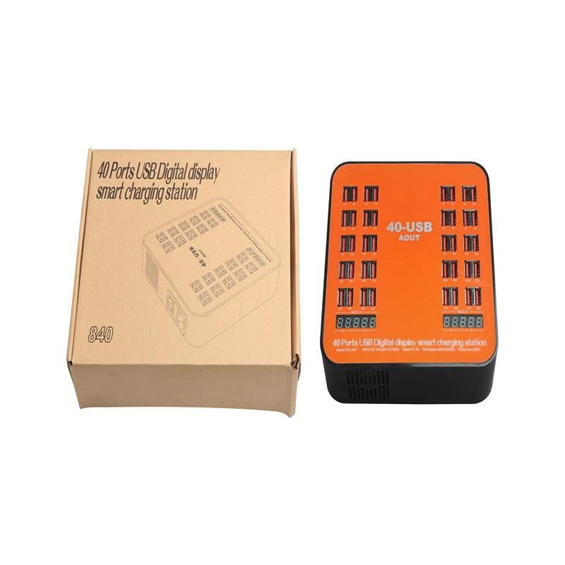 Puerto USB 20/40 cargador inteligente USB Hub 90 W estación de carga multipuerto USB cargador EU EE. UU. para Smartphone tabletas MP3 Lovebay 48W cargador rápido USB 3,0 cargador para iphone Samsung Tablet EU US adaptador de enchufe cargador de pared para teléfono móvil carga rápida