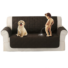 European classical style TPU pet sofa cushion Waterproof non-slip cover Dog Solid color grid towel