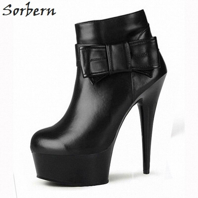 La Heels 17cm Custom Mariposa nudo Cremallera Tobillo Cm Zapatos Los Heels Pie Botas 15cm Del Heels De Sorbern Plataforma 5 Moda Diseñadores Mujer Dedo Lujo 20cm 10 Redondo gTnBxqB