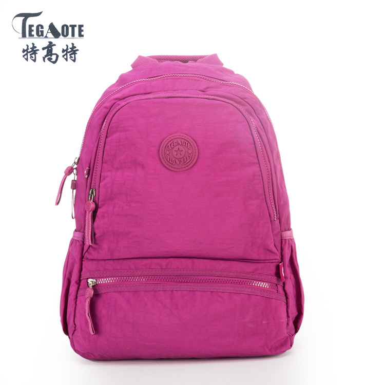 TEGAOTE 2017 New Nylon Waterproof School Backpack for Girls Feminina Mochila Mujer Backpack Female Casual Multifunction