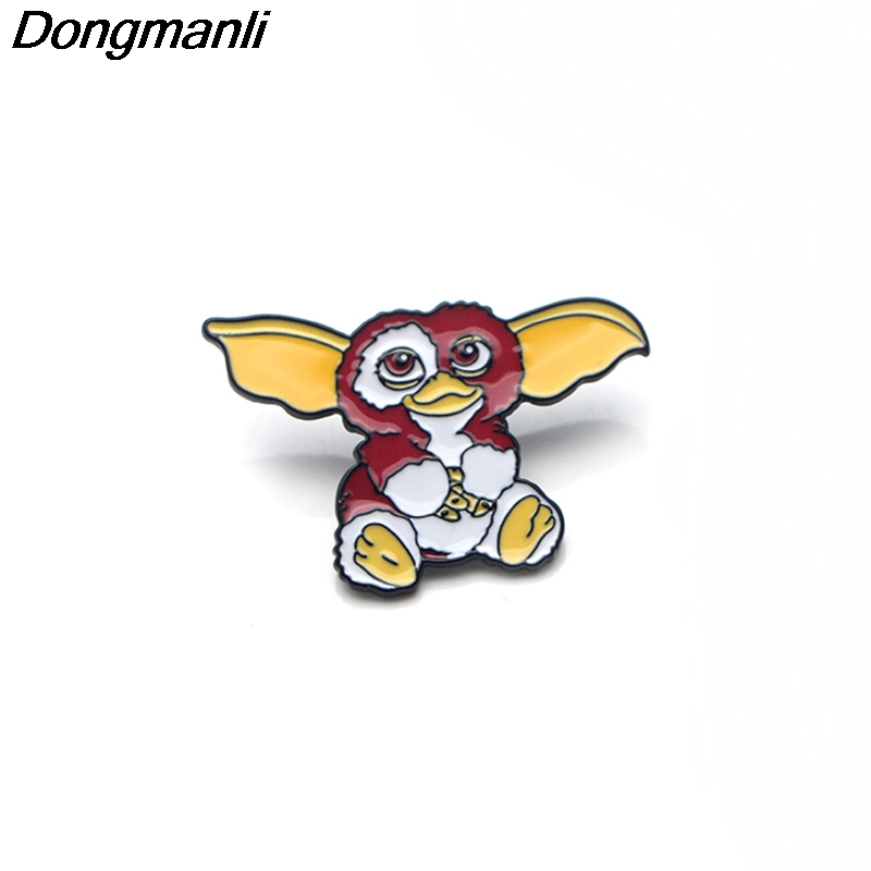 P3085 Wholesale 20pcs lot Cute Gremlins Cartoon GIZMO Metal Enamel Pins and Brooches for Women Men