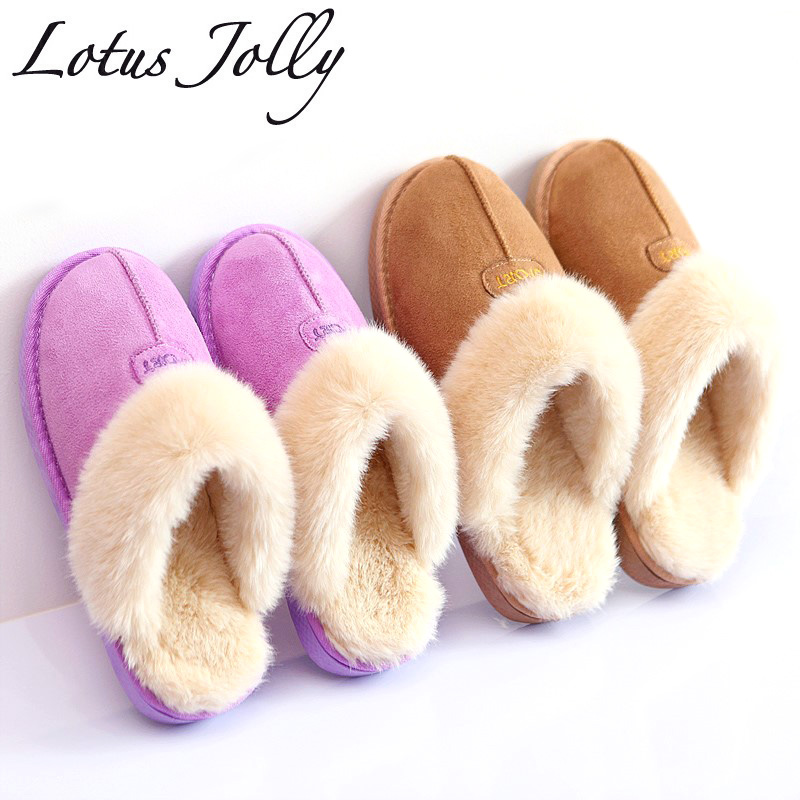 Home Slippers Women Plush Bathroom Slipppers Australia Ug Style Female House Indoor Unisex Couple Warm Fur Shoes Plus Size 35-44 plush winter slippers indoor animal emoji furry house home with fur flip flops women fluffy rihanna slides fenty shoes