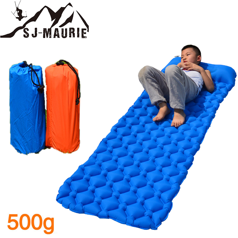 Tapis de Camping sj-maurie 2 couleurs ultra-léger gonflable dormir avec oreiller Camping en plein air randonnée sac à dos tapis de voyage 200*58*5 CM