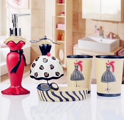 5Pcs/set Elegant Lady Makeup Bathroom Toiletries Kit Creative Resin Bathroom  Accessories Washing Set Wedding Decoration Gift In Bathroom Accessories  Sets ...
