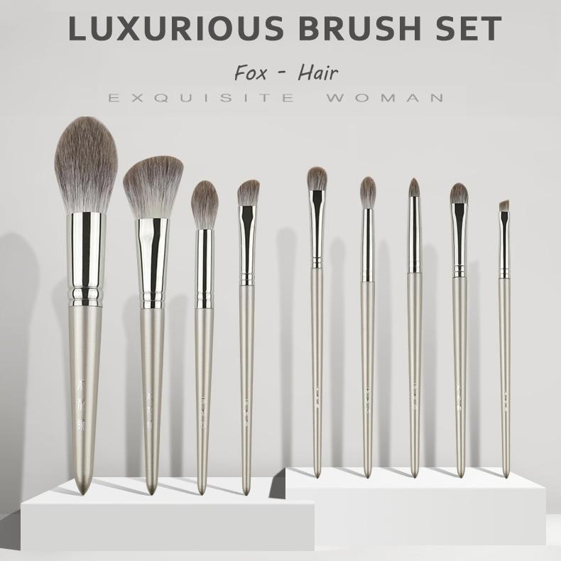 MyDestiny набор роскошных кисточек для волос лисы 9 кисточек шелковистый сенсорный профессиональный набор кисточек инструменты для макияжа