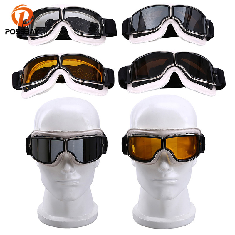 POSSBAY Motorcycle Goggles Glasses Safety Men Women Winter Snow Sports Skiing Snowboard Snowmobile Goggles Cycling Eyewear