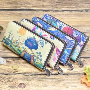 Image 5 - DICIHAYA Frauen Lange Brieftaschen Druck Leder Geldbörse Dame Geldsäcke Mädchen Studenten Geldbörsen Kupplung Brieftasche Karten Halter Taschen