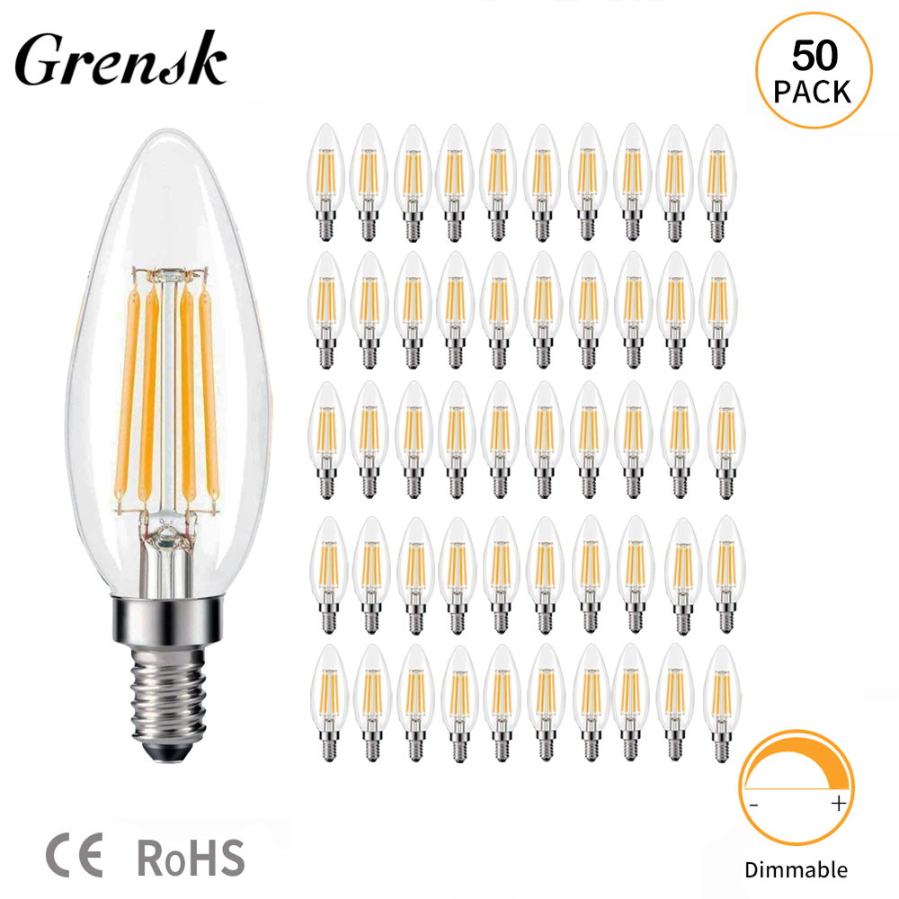 E14 LED FROSTED CANDLE BULB 3.5W COOL WARM WHITE ENERGY MONEY SAVING LAMP NEW