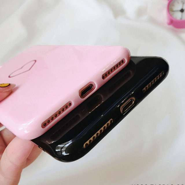Lovely Heart Painted Case iPhone X 8 8plus Case Fashion Couples Back Soft TPU Cover Cases For iphone 6 6s 6Plus *32901341612