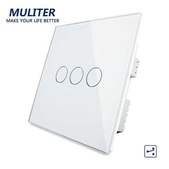 UK Standard Kristallglas verkleidung Smart Touch Lichtschalter 3 ...