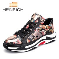 Генрих весна/осень Мужская обувь 2018 модные Повседневное мужские кроссовки 9908 на шнуровке Повседневная обувь для мужчин обувь Tenis Masculino Adulto