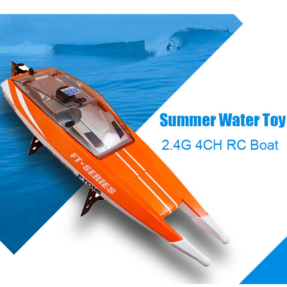 New Arrival Feilun FT016 2.4G 4CH Waterproof RC Boat High Speed 28km/h Racing Remote Control Boat Summer Toy Gift For Children