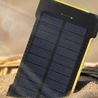 방수 태양 전원 은행 고용량 20000 mah 듀얼 usb 외부 폴리머 배터리 충전기 야외 조명 powerbank
