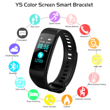 Bluetooth Smart Bracelet Color Screen Y5 Smartband Heart Rate Monitor Blood Pressure Measurement Fitness Tracker Watch Men