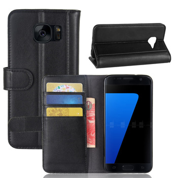 Luxury Geniune Leather Case Cover for Samsung Galaxy S7 Flip Wallet Case with Magnetic MastercardVisa Card Slot Holders visa