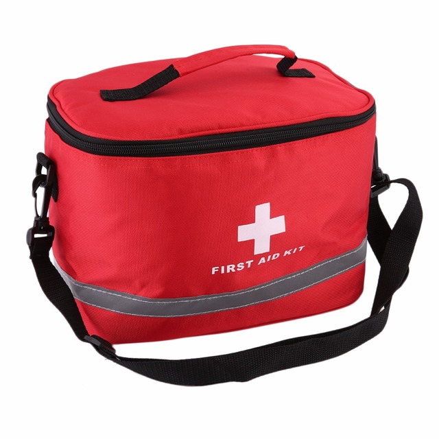 Red Nylon Striking Cross Symbol High Density Ripstop Sports Camping