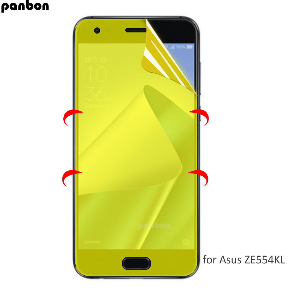 Full Coverage For Asus Zenfone 4 ZE554KL Hydrogel Film 5D 3D Soft TPU Screen Protector nano film not glass