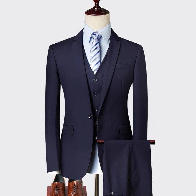 a65fed80b8d Trajes Diseño Negro De Slim Chaquetas 2018 gris Marino Moda Plus Hombre 3  Nuevos Los Negocios Piezas Conjuntos Traje Corte ...