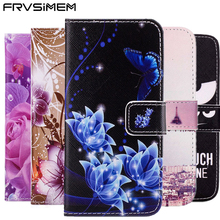 FRVSIMEM Paiting Leather Cover Book Flip Wallet Case for Samsung galaxy S3 Neo S4 S5 Duos S6 edge mini A3 A5 A7 2017 2016