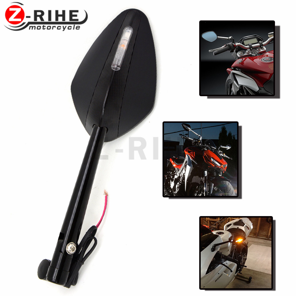 for Motorcycle Integrated Turn Signal Mirrors Side Rearview Mirror Front Back LED Universal For Ducati DIAVEL CARBON 1199 1198 1 рычаги тросики и кабели для мотоцикла oem 7 8 22 ducati diavel 916 996 998 999