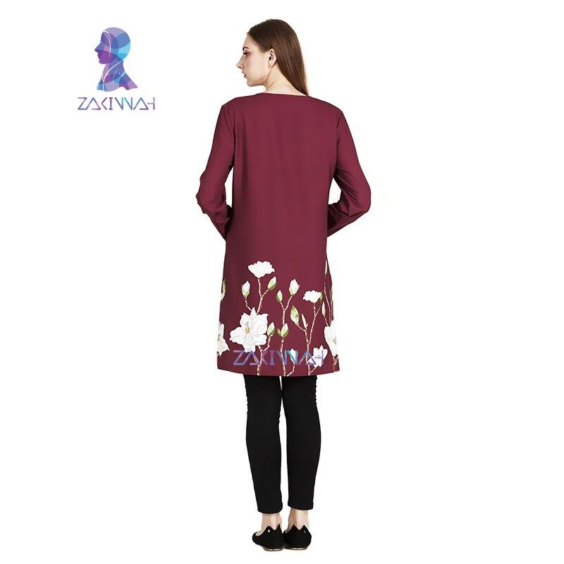 Nya muslimska kvinnor Klänning Turkiskt tryck Damkläder Kvinnor - Nationella kläder - Foto 2