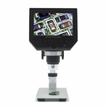 Elecrow Digital Portable 1-600X 3.6MP 4.3inch HD OLED Display Digital Microscope Continuous Magnifier with Aluminum Alloy Stand