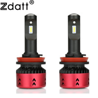 Zdatt Mini Car Light H4 H7 H8 H9 H11 H1 Led Bulb CSP Headlight 9005 9006