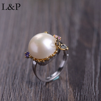 Vintage Pearl Ring For Lady 100% Pure 925 Sterling Silver Ring 2019 Elegant Original Handmade Luxury Jewelry For Wedding Gift