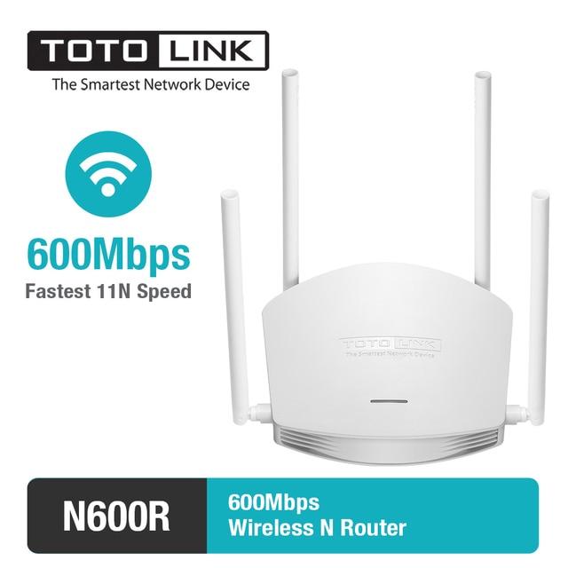 TOTOLINK N600R 600 Мбит/с беспроводной маршрутизатор/точка доступа/Wi-Fi ретранслятор, 4 шт. из 5dBi антенны (высокая мощность маршрутизатор, английский прошивки)