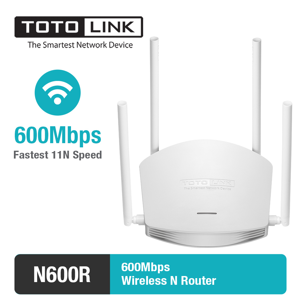 TOTOLINK N600R 600Mbps WiFi Router / Access Point / WiFi Repeater, 4pcs of 5dBi Antennas (High power router, English FIrmware) totolink a850r 1200mbps двухдиапазонный беспроводной маршрутизатор gigabit router