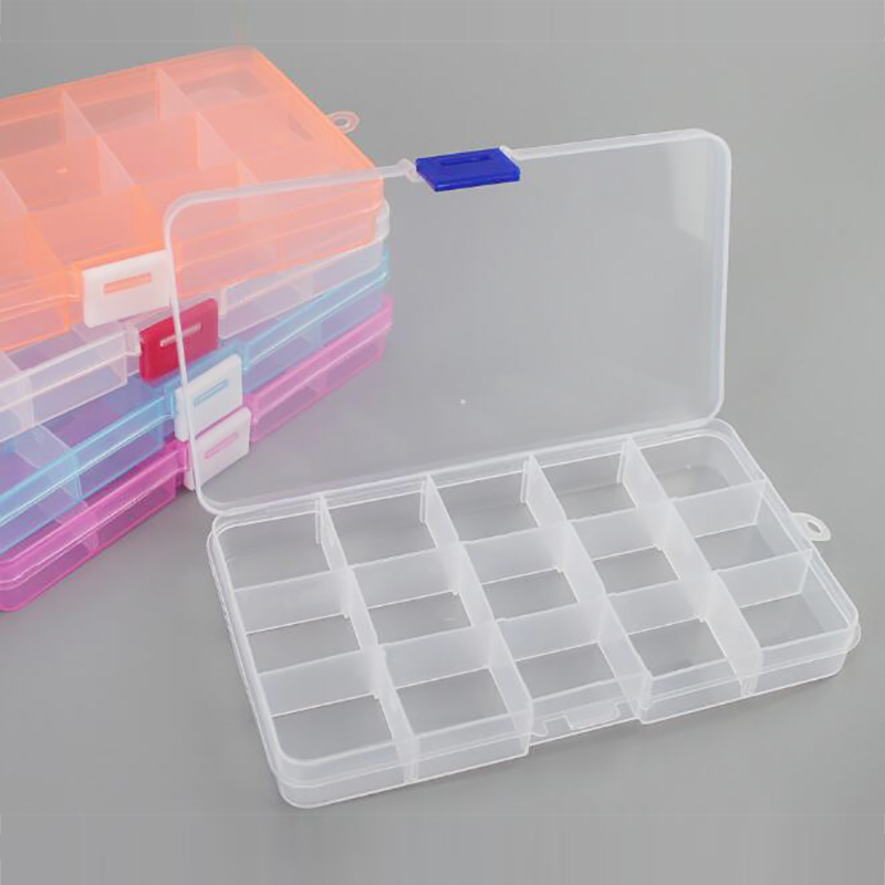 Jewelry, Adjustable, Plastic, Transparent, Compartment, Storage