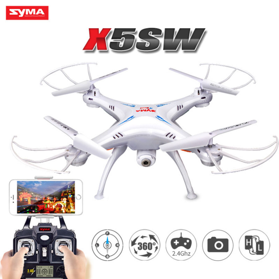 SYMA X5SW RC Drone 2.4GHz 4CH 6Axis With Camera HD WiFi FPV Real-Time Helicopter 3d flight Remote Control Quadcopter Toys syma x5sw drone with wifi camera real time transmit fpv quadcopter x5c upgrade hd camera dron 4ch rc helicopter remote control