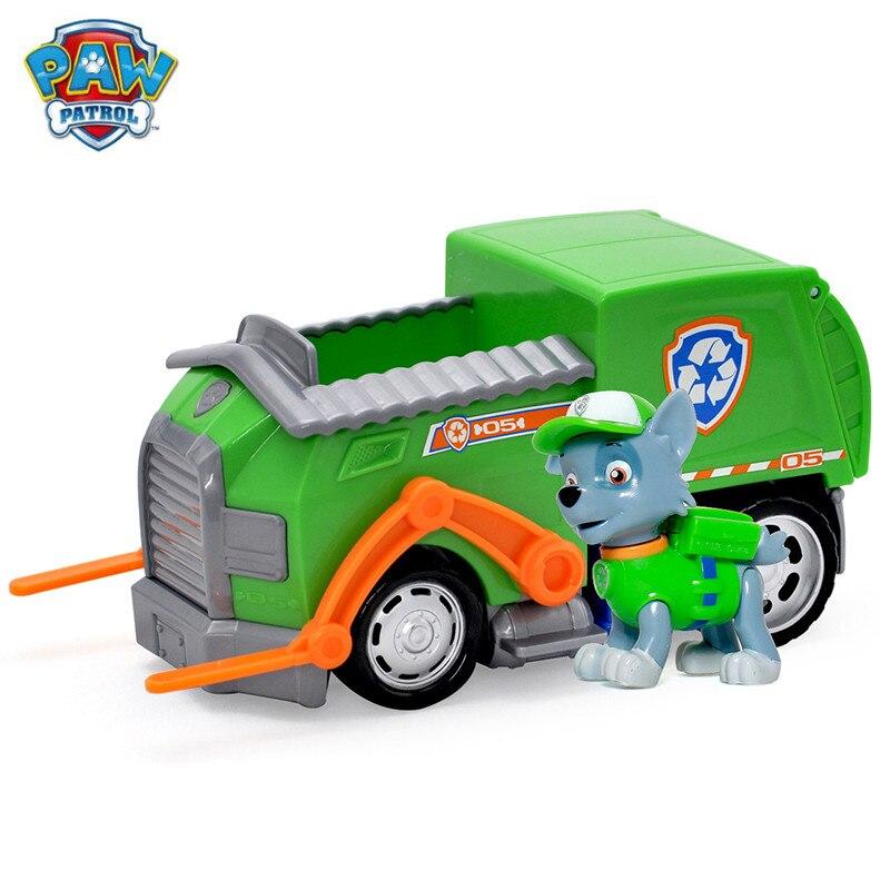 Щенячий патруль собака автомобиль rockys спасателя и фигура игрушка Щенок патрульная машина patrulla детские игрушки собаки натуральная
