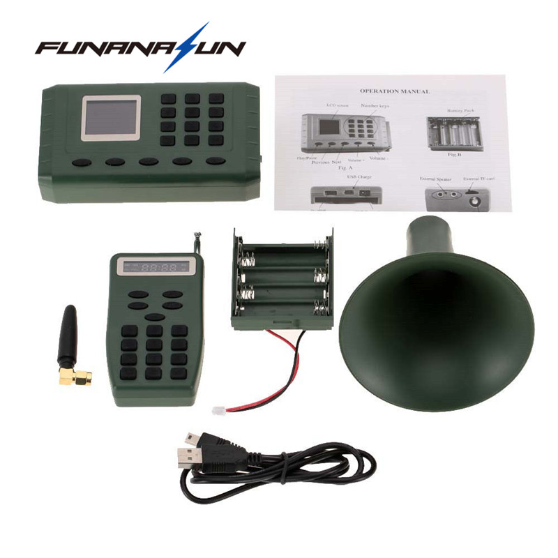 Hunting Bird Caller Decoy Support Two External Speakers with Remote Control Play Electronics Built-in MP3 Bird Sound Loudspeake electronics hunting 50w mp3 bird caller sounds player decoy built in 200 mp3 bird sound free bird calls with remote control