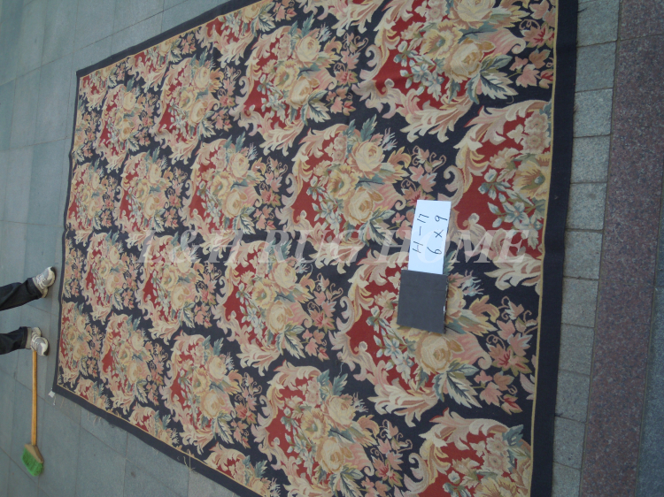 Free Shipping 6X9 French Aubusson Rug, 100% hand woven New Zealand woolen rugFree Shipping 6X9 French Aubusson Rug, 100% hand woven New Zealand woolen rug