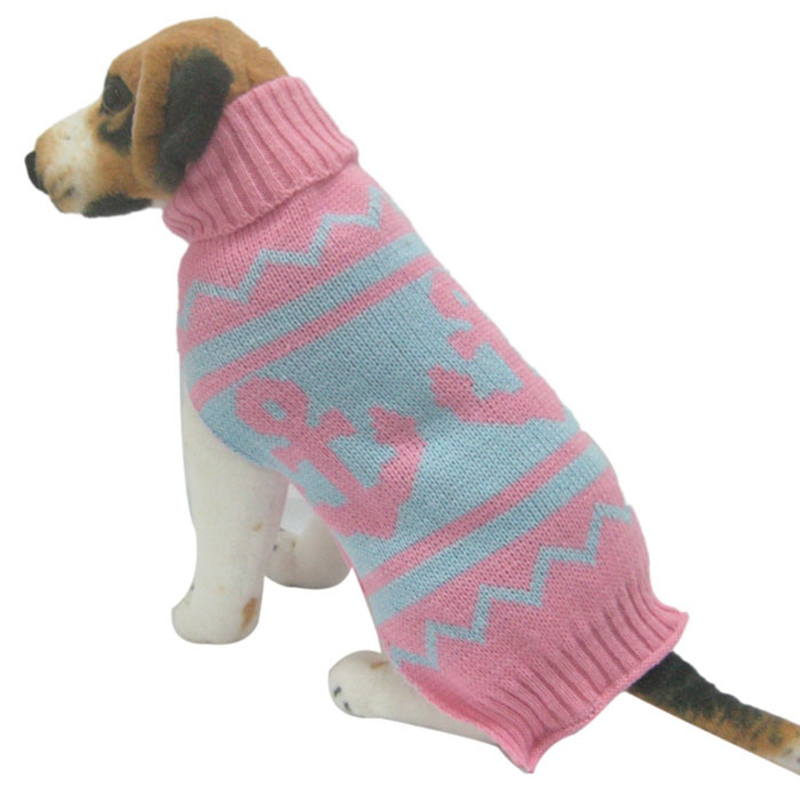 New Anchor Pattern Pet Sweater For Autumn Winter Warm Knitting