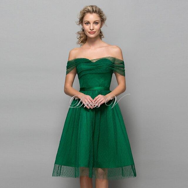 Knielange kleider grun