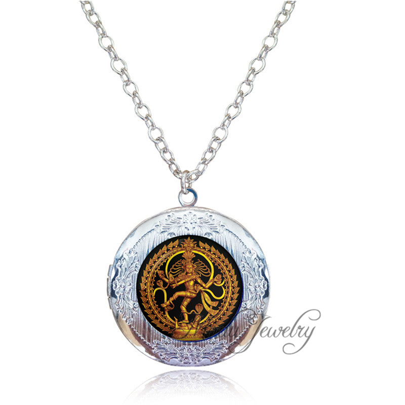 dancing shiva pendant necklace nataraja locket necklace