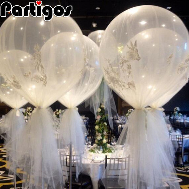 10pcs 36 inch 25g jumbo large round latex balloons transparent clear giant wedding ballons table centerpiece