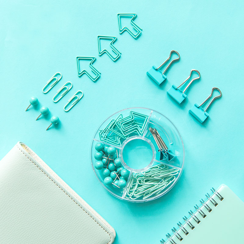 Binder Clips Paper Clips Gold Plated Office Stationery Combination Set Nail Clip Set Escolar Stationary Set Stationeries Set