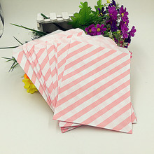 5*7 inch 100pcs Chevron Popcorn Candy Kraft Paper Treat Favor Bag Goodie Gift Bags Wedding Party Decoration Party Supplies