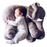 40 سنتيمتر/60 سنتيمتر الفيل وسادة الرضع دمية طفل لعب لينة 2017 رفيقا الهدوء أعلى فتاة صديق الفيل أفخم لعبة محشوة دمية هدية
