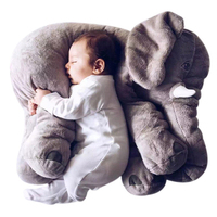 2017 Biggest 60cm Infant Soft Appease Elephant Playmate Calm Doll Baby Toys Top GirlElephant Pillow Plush