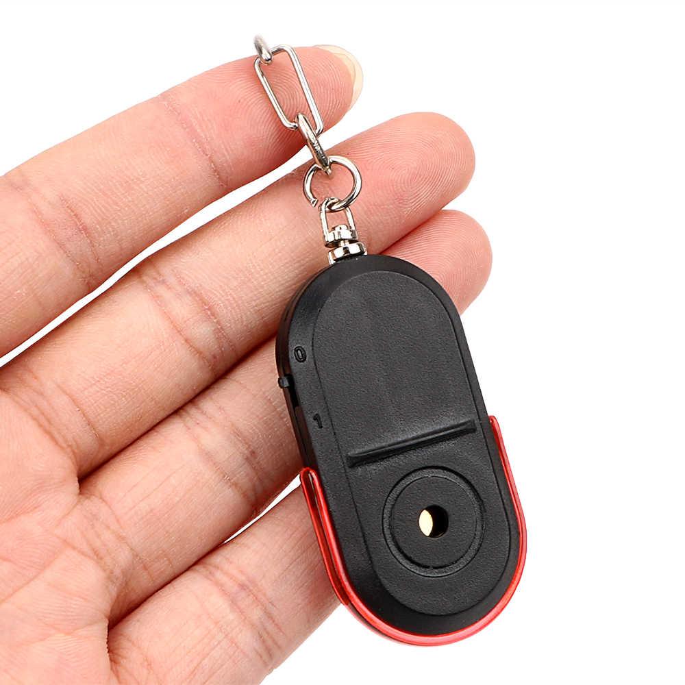 LLavero de coche con localizador de llaves con luz de Flash LED buscador de llave silbato de inducción de sonido dispositivo Anti-Pérdida llave de llavero inalámbrico cadena