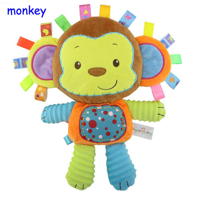 Happy-Monkey-Baby-Toys-Infant-Animals-Dolls-Kids-Rattles-Soft-Plush-Toys-Elephant-Rabbit-Lion-8-styles-Infant-Toys-Wholesale-2