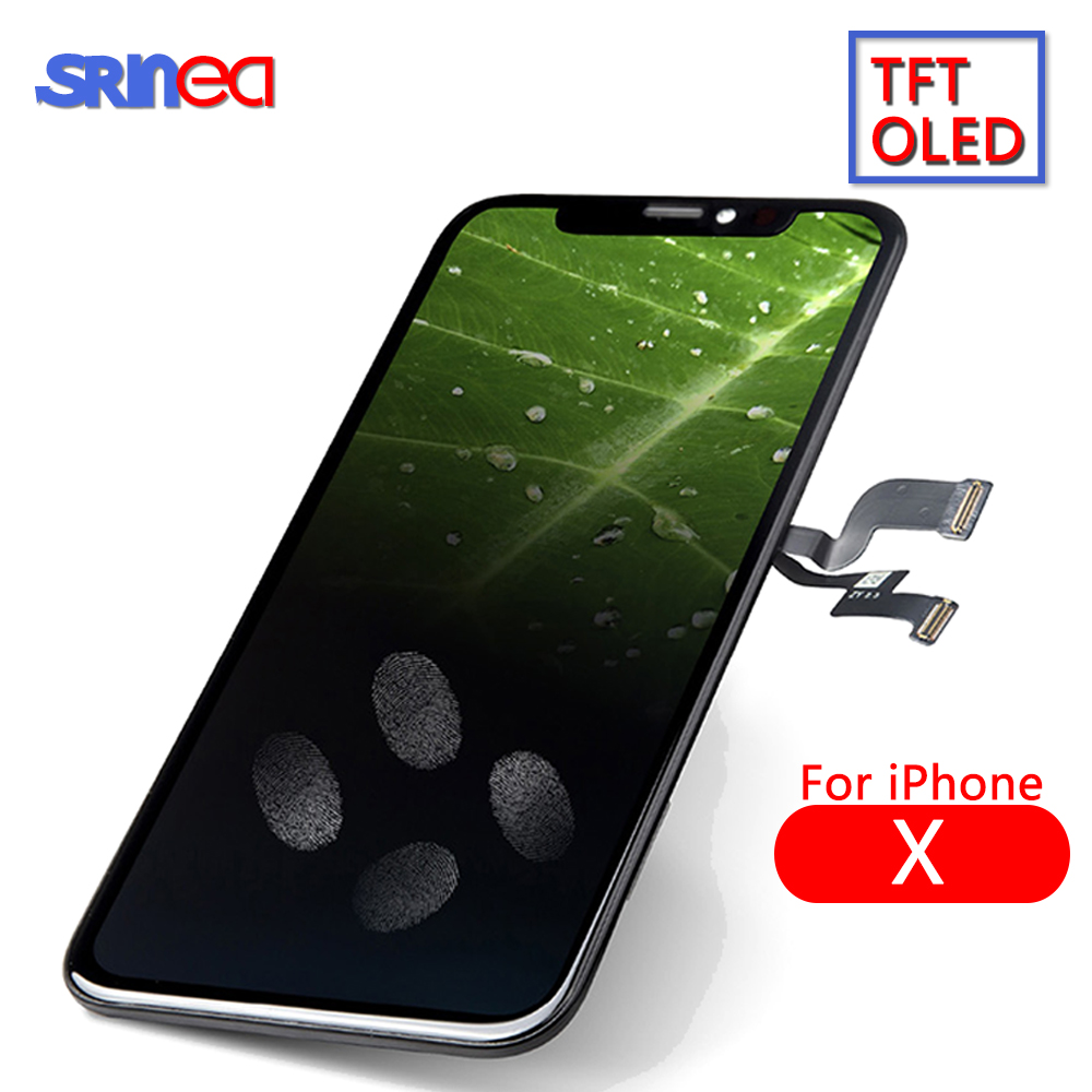 AMOLED LCD Para iPhone Display LCD X i Phone 10 A1865 A1901 A1902 Touch Screen Com Digitalizador Substituição Peças de Montagem preto